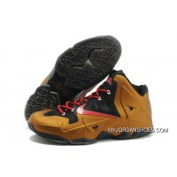 Nike LeBron James 11 Metal Gold/Black Red New Year Deals
