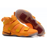 2017 Nike LeBron Soldier 11 Yellow Wine Red Latest
