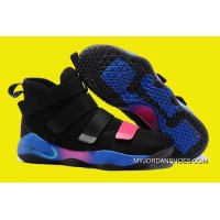 2017 Nike LeBron Soldier 11 Flip The Switch Black Blue Pink Outlet