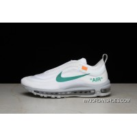 P26 OFF-WHITE X Nike Air Max 97 Bullet Running Shoes Collaboration Publishing Women Shoes And Men Shoes AJ4585-101 Super Deals
