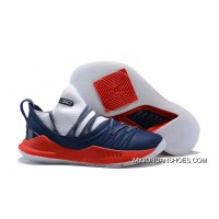 UA Curry 5 White Navy Blue Red Under Armour Free Shipping