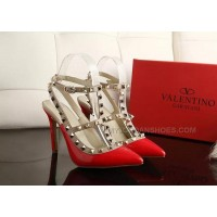 valentino red 10cm high heels calf leather upper sheepskin inner