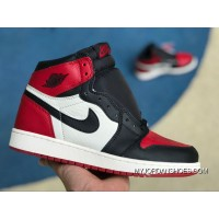 Special Supply Version AJ1 Red Toe Women Air Jordan 1 Bred Toe Gs 1 Black White Red Toe Size 575441-610 Discount