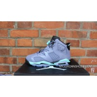 AJ Jordan 6 Generation Grey Green Lavender Women Air 6 Retro GS 6 Grey Green 543390-508 Best
