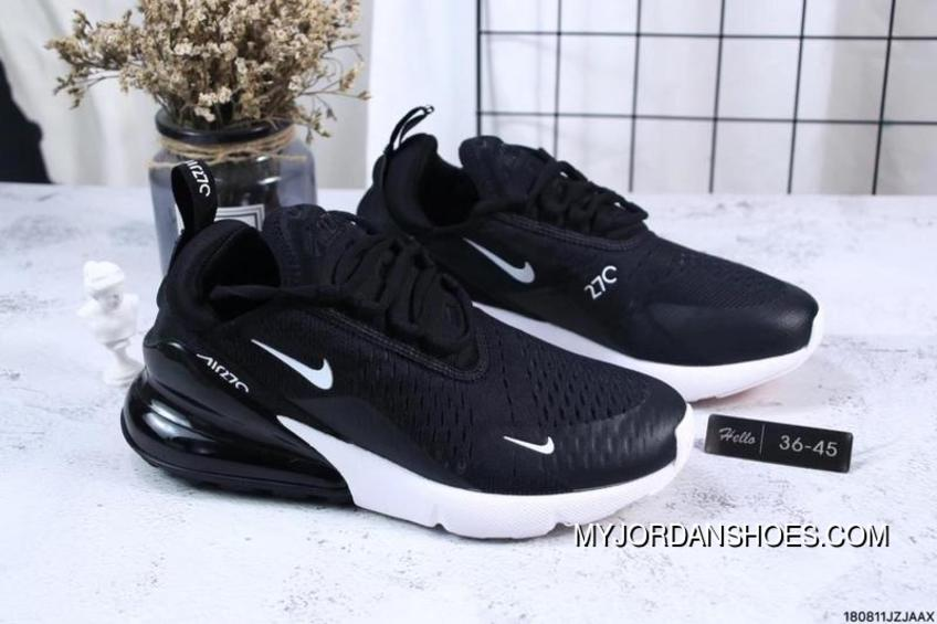 Nike Jacquard Air Max 270 Flyknit Half-palm Cushion Black And White New Release