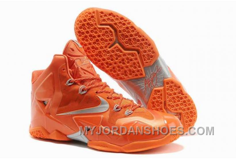 Nike LeBron 11 Orange/Silver PCCZ7